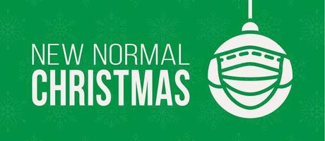 nieuwe normale kerst concept bannerkaart