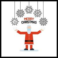 kerstman met viruscelversieringen