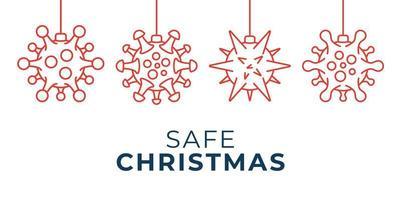 veilige kerst coronavirus bal ornament banner