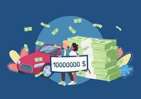loterijwinnaars met een grote geldcheque