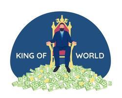 succesvolle zakenman zittend op de troon