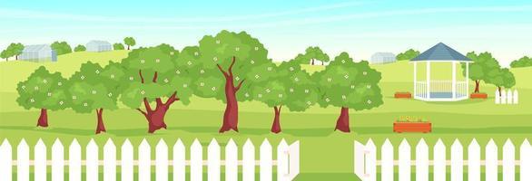 landschap met tuinhuisje