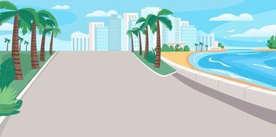 luxe badplaats boulevard vector