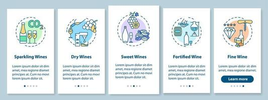 wijnproeverij onboarding mobiele app-pagina