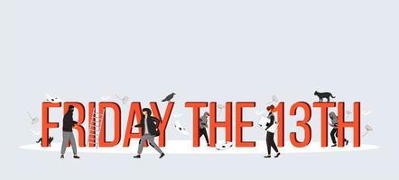 vrijdag de 13e banner vector