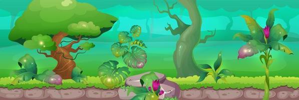 dieren in het wild in het regenwoud vector