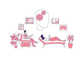psychologische therapie met patiënt vector