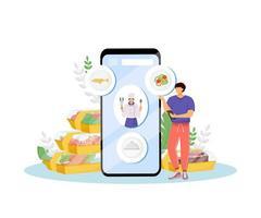restaurant eten online bestellen vector