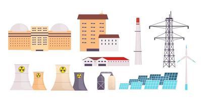 energiecentrale objecten ingesteld vector