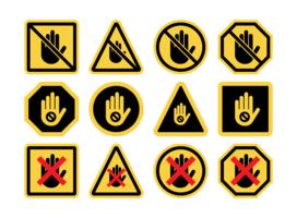 Raak geen pictogramvectoren aan vector