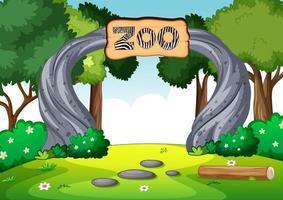 lege dierentuin in natuurtafereel vector