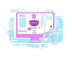 onderwijsassistent bot vector