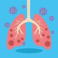 geïnfecteerde longen met coronavirus