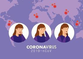 coronavirus symptomen medische banner vector
