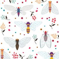 Set van kleurrijke Cicada
