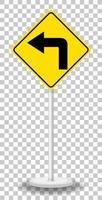 geel verkeerswaarschuwingsbord vector