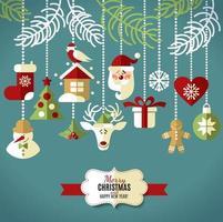 kerstmis en nieuwjaar achtergrond. vector