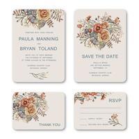 bruiloft uitnodigingen sjabloon