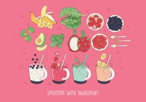 Smoothie en ingrediënt Vector Vol 2