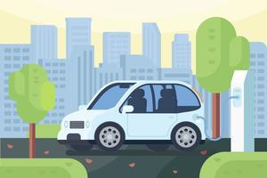 Elektrische auto vectoren
