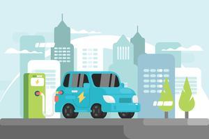 Elektrische auto illustratie
