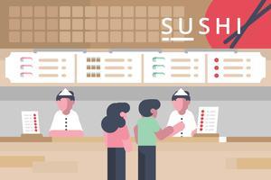 Food Court Illustratie vector