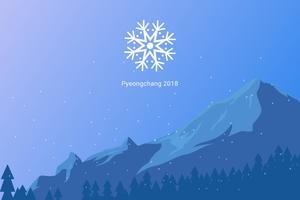 Iconische Olympische Winterspelen Vectoren