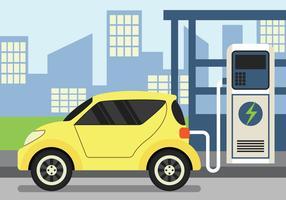 Elektrische auto-oplader vector