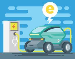 Elektrische auto illustratie vector