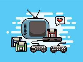 held van videogames vector