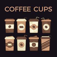 Koffiekopjes Vector