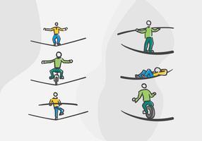 uitstekende touwvectoren