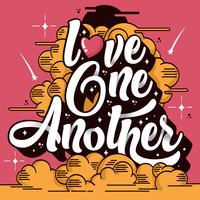 hou van elkaar een typografie