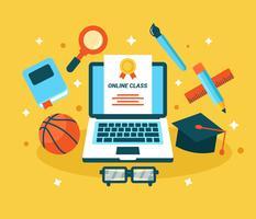 Online leren Vector