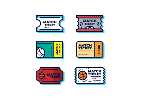 eenvoudige sportieve ticket vector