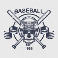 Vintage honkbal vector