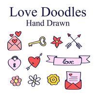 Hand getrokken liefde Doodles vector