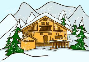 Traditioneel alpine chalet