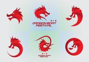 Dragon Boat festival logo-elementen