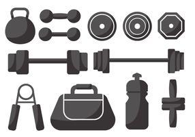 Gewichtheffen pictogrammen Vector