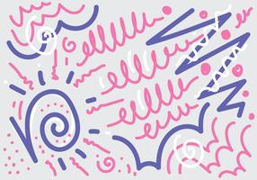 kronkelen doodle vector
