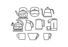 Gratis Hot Drink Line Icon Vector