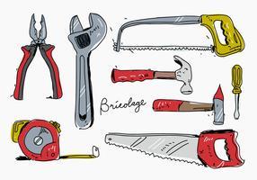 Bricolage Hand getrokken vectorillustratie