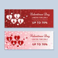 Valentijnsdag verkoopbanner vector
