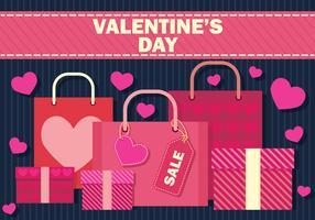 Valentijnsdag verkoop vectorillustratie vector