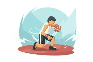 Overdreven basketbal speler vectoren