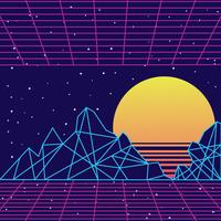 Retro Vintage 80s geometrische abstracte achtergrond vector
