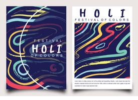 Holi Festival of Colors Posterontwerp vector