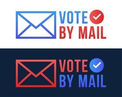 stem per mail vectorillustratie. stay safe concept voor de Amerikaanse presidentsverkiezingen van 2020. sjabloon voor achtergrond, banner, kaart, poster met tekstinschrijving.