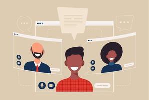 Afrikaanse student chatten tijdens video-oproep Afrikaanse student chatten tijdens video-oproep